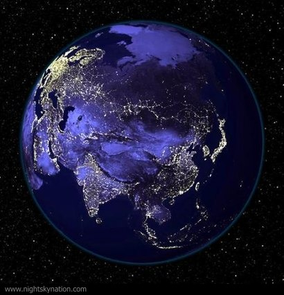 Earth At Night : Asia