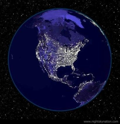 Earth At Night : North America