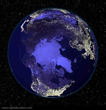Earth At Night : North Pole